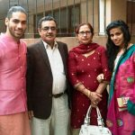 Gaurav Alugh with his family
