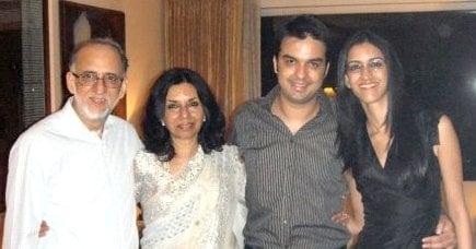 Gautam Kitchlu with his family