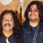 Hariharan With His Son Akshay Hariharan