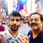 Hariharan With His Son Karan Hariharan