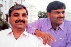 Harshad Mehta with his brother Ashwin Mehta
