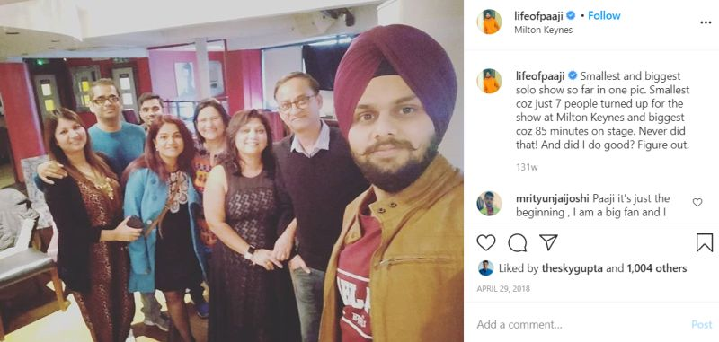 जसप्रीत सिंह ने 7 लोगों के लिए किया परफॉर्म