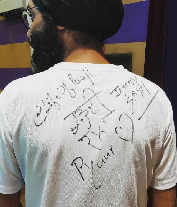 Jaspreet Singh's autograph
