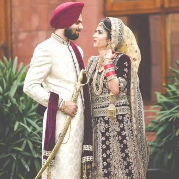 Jaspreet Singh's wedding picture