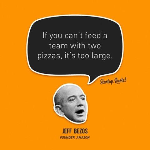 जेफ बेजोस और उनके दो पिज्जा नियम