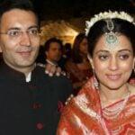 Jitin Prasada and his bride Neha Seth, a political journalist, during reception of their wedding in 2010