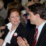 Justin Trudeau with his sister Alicia Kemper