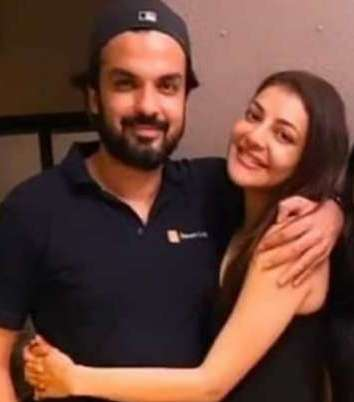 Kajal Aggarwal with Gautam Kitchlu