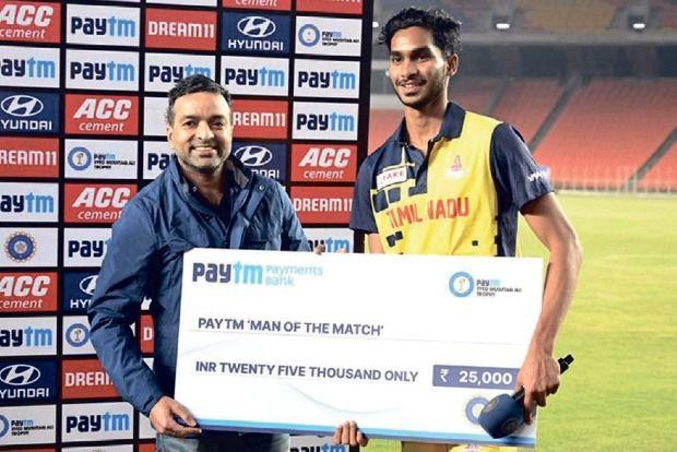 मणिमारन सिद्धार्थ ने सैयद मुश्ताक अली ट्रॉफी के फाइनल में बड़ौदा के खिलाफ मैन ऑफ मैच जीता