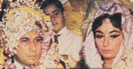 Marriage picture of Sadhana and R K Nayyar