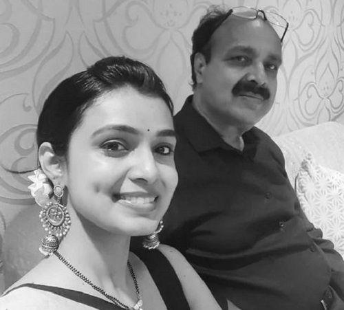 Mayuri Deshmukh with her Father