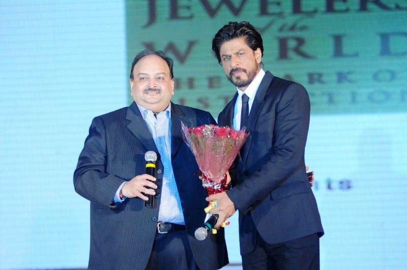 शाहरुख खान के साथ मेहुल चोकसी