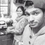 Navdeep Saini with his mother