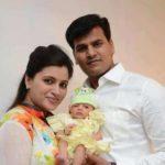 Navneet Kaur Rana with her husband and kid