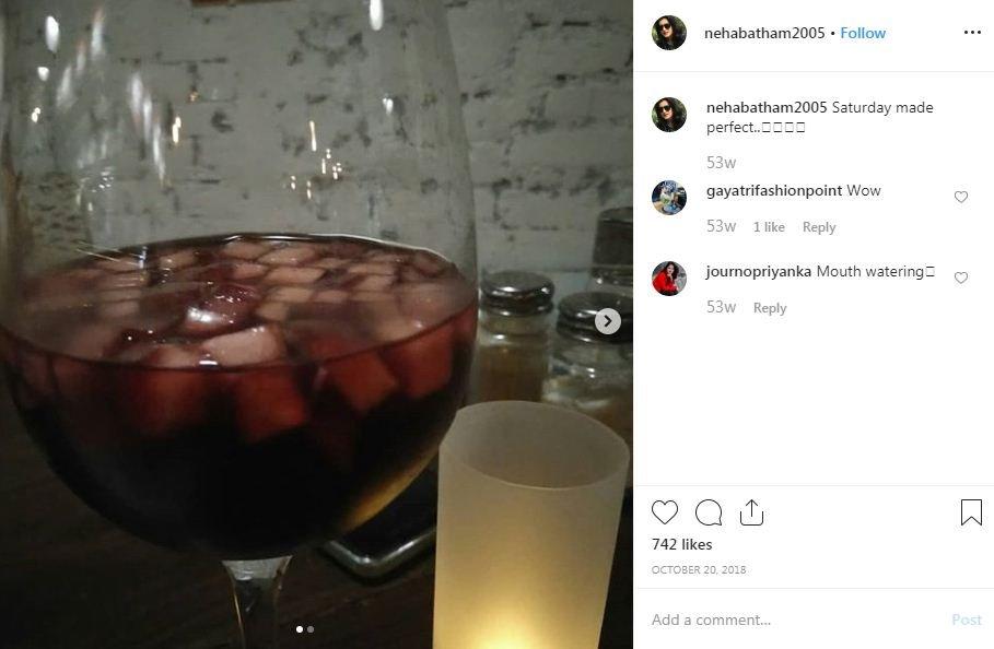 नेहा बाथम शराब पीती हैं
