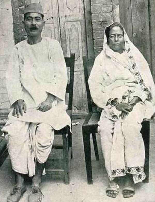 Premchand with his second wife Shivarani Devi