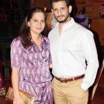 Prerana Chopra with her husband Sharman Joshi