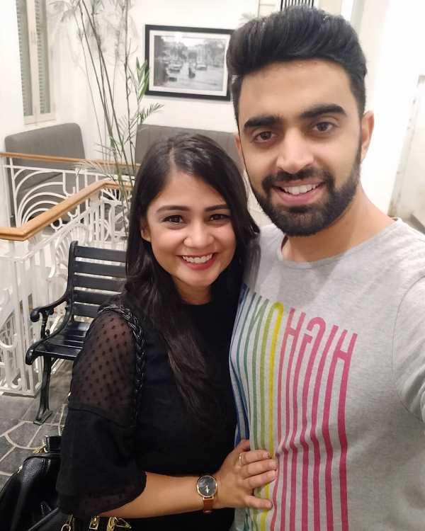 Rahul Dua with his girlfriend Nidhi Tyagi