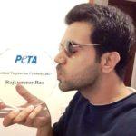 Rajkummar Rao With His PETA Hottest Vegetarian Celebrity - Hottest Vegetarian