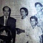 Rakesh Roshan with his parents and brother