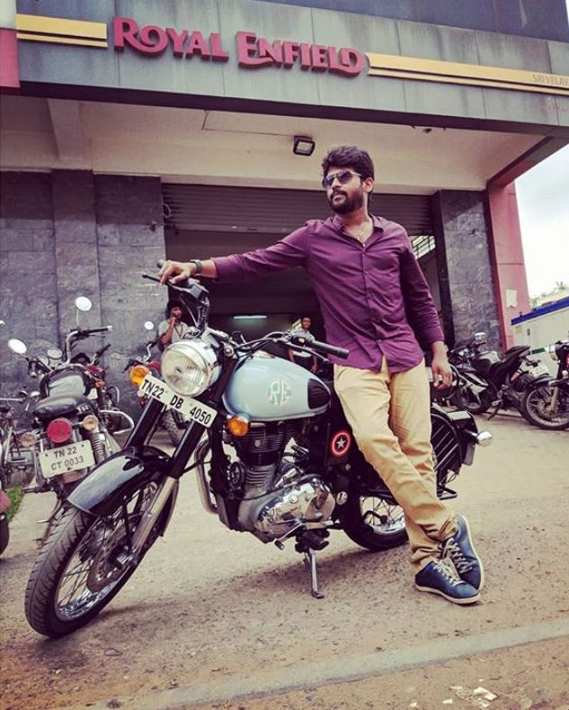 Rio Raj with his bike