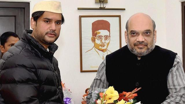 Rohit Shekhar Tiwari With Amit Shah