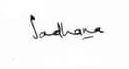 Sadhana Shivdasani's signature