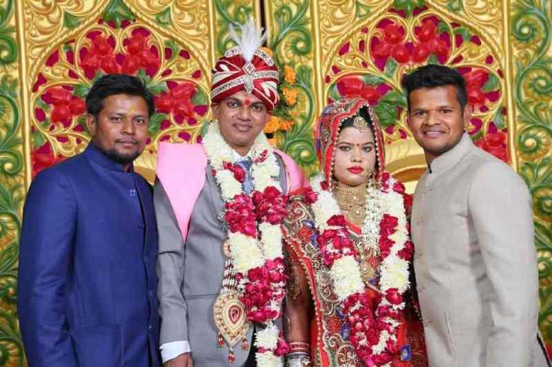 Saurabh Kumar with his sister