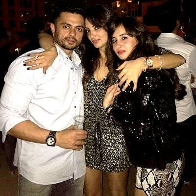 Seema Khan with her Brother and Sister