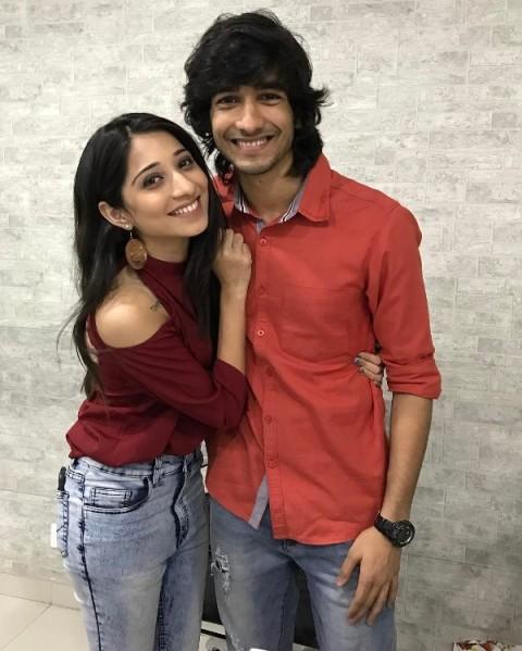 Shantanu Maheshwari with Vrushika Mehta