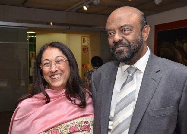 Shiv Nadar and Kiran Nadar