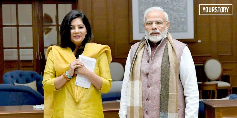 नरेंद्र मोदी के साथ श्रद्धा शर्मा