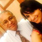 Shwetha Shekar with her father