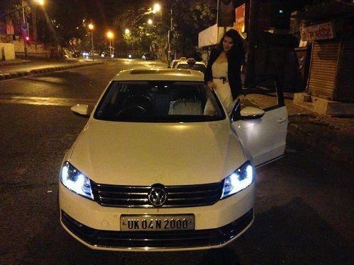 Sukirti Kandpal with her Car