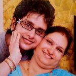 Suresh Mukund with his mother