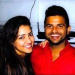 Suresh Raina with his wife Priyanka Chaudhary
