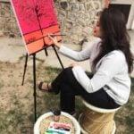 Tina Dabi painting