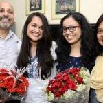 Tina Dabi with her family