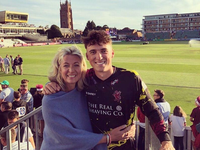 Tom Banton with his mother, Jayne Banton