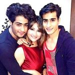 Urvashi Dholakia with her sons