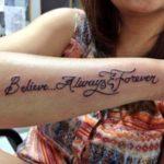 Urvashi Dholakia's tattoo on forearm