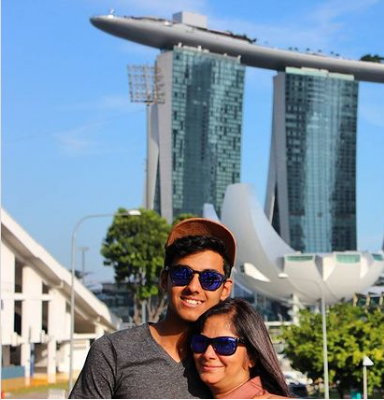 Utkarsh Singh with his mother