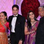 Vikaas Kalantri with parents and wife