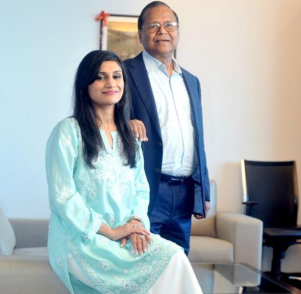 Vinod Saraf (Chairman,Vinati Organics Ltd) with daughter Vinati Saraf Mutreja (MD& CEO, Vinati Organics Ltd)