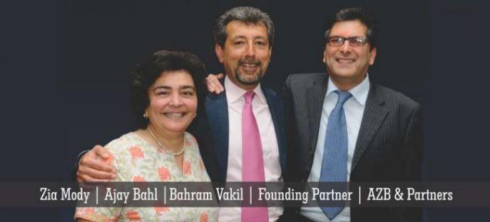 AZB और पार्टनर्स के साथ जिया मोदी (अजय बहल और बहराम वकील)