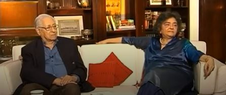 Zia Mody with her father, Soli Sorabjee