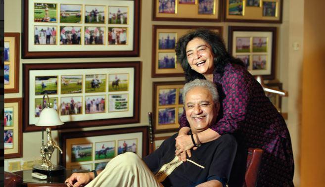 Zia Mody with her husband, Jaydev Mody