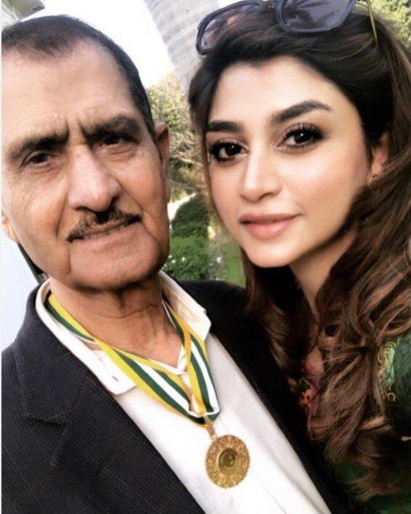 Zoya Nasir with her father