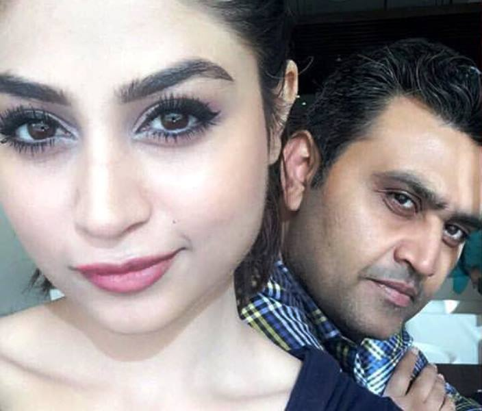 Zoya Nasir with her brother