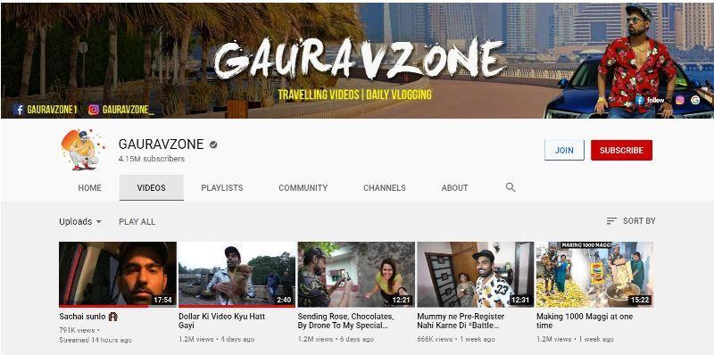 गौरव शर्मा का यूट्यूब अकाउंट